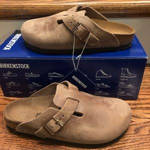 Birkenstock Boston clog brown leather 4 narrow